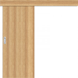 Posuvné dveře na stěnu Plné Hladké - dub 3D GREKO
