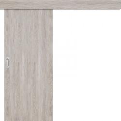 Posuvné dveře na stěnu Plné Hladké - dub šedý 3D GREKO