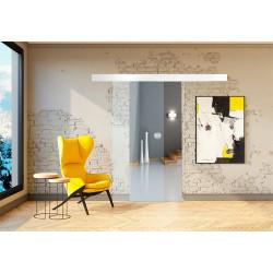 Posuvné skleněné dveře na stěnu GRAF 9 Čiré