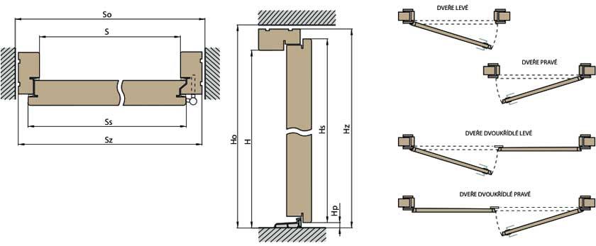Vchodové dveře venkovní konstrukce